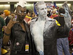 Punk Storm and Iceman cosplay