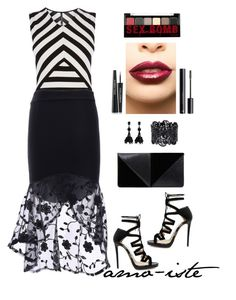 """Mermaid Skirt"" by amo-iste ❤ liked on Polyvore featuring Karen Millen, Jimmy Choo, UN United Nude, Oscar de la Renta, LASplash, NYX, H&M, Dolce&Gabbana, under50 and skirtunder50"