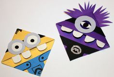 Despicable Me Minion Corner Bookmarks (Set of 2: One Purple, One Yellow) by CannolisCorner on Etsy https://www.etsy.com/listing/217047161/despicable-me-minion-corner-bookmarks