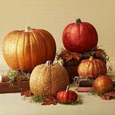citrouilles halloween paillettes Pumpkin glitter