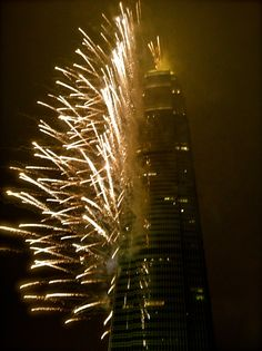 Fireworks from the IFC building in Hong Kong, New Years 2012 #JetsetterCurator