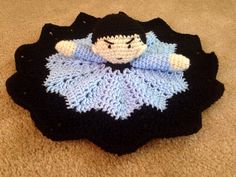 Crochet Spock Star Trek lovey security by KathrynsHandiworks Crochet Security Blanket, Crochet Lovey, Crochet Stars, Crochet Dolls, Knit Crochet, Crochet Crafts, Crochet Projects, Geek Baby, Spinning Yarn