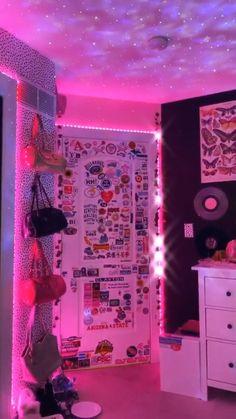 Tomboy Bedroom, Neon Bedroom, Indie Bedroom, Indie Room Decor, Cute Bedroom Decor, Room Design Bedroom, Room Ideas Bedroom, Girls Bedroom, Bedrooms