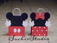 Mickey mouse Minnie mouse red goody bags red by SuchisStudio