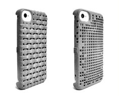 Weave and Double Mesh 3D printed iPhone cases by Freshfiber | http://www.freshfiber.com