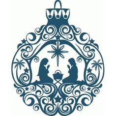 Silhouette Design Store - View Design #53103: nativity ornament