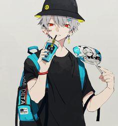 Animes Emo, Animes Yandere, Fanarts Anime, Anime Characters, Dark Anime Guys, Cool Anime Guys, Cute Anime Boy, Anime Oc, Anime Angel