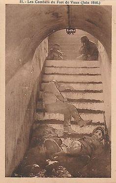 "WWI, June 1916, Battle of Verdun;""Les Combats du Fort de Vaux."" World War One, First World, Airborne Army, D Day Normandy, Post Mortem, Creepy Vintage, Weird Pictures, History Photos, Expo"