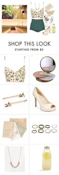 """""""Flowers, I Guess"""" by hellokitty522 ❤ liked on Polyvore featuring Topshop, Marc Jacobs, Marc Fisher, Pieces and Bormioli Rocco"""