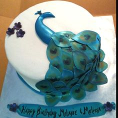 Happy Birthday Caterina! Peacock cake! by lavonne