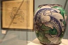 galileo chini nouveau liberte vase ceramics pottery clay koi