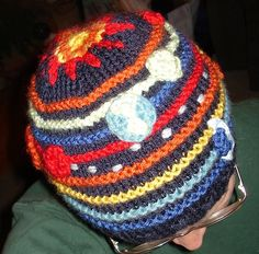 Out Of This World! Solar System Hat pattern by Jennifer Small