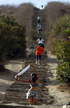 Great stair climbs in the L.A. area: Spots include Montecito Heights, Monterey Hills, Culver City, Echo Park and Pacific Palisades.