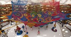 Fluorescent Yarn Playgrounds - Google Search