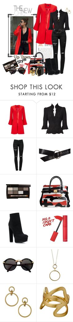 """Red and Black Fashion_The New Chic Style"" by msmith801 ❤ liked on Polyvore featuring Frame, Ann Demeulemeester, Dsquared2, Casadei, Cartier, Pilgrim and Pluma"