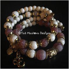 A personal favorite from my Etsy shop https://www.etsy.com/listing/510717161/yoga-bracelet-set-agate-howlite-bracelet