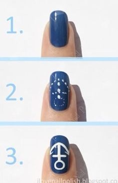 I love this step by step because i am retarded at nail designs