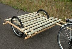 Bamboo bike trailer