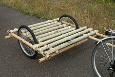 Bamboo bike trailer