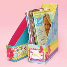 Magazine Holder Designed By American Girl Crafts - Scrapbook.com