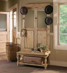 Hall Tree and Storage Bench