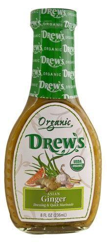 Drew's All Natural Organic Dressing, Asian Gnger, 8 Oz