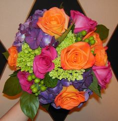 Bright Colored Wedding Bouquets | Bright mixed color bouquet! Made by The Floral Touch! ... | The Big D ...