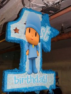 Also just printed a large image and glued on a 1 shaped piñata 1st Boy Birthday, Boy Birthday Parties, Happy Birthday, Birthday Ideas, First Birthday Decorations, Party Stores, 1st Birthdays, Baby Party, Party Themes
