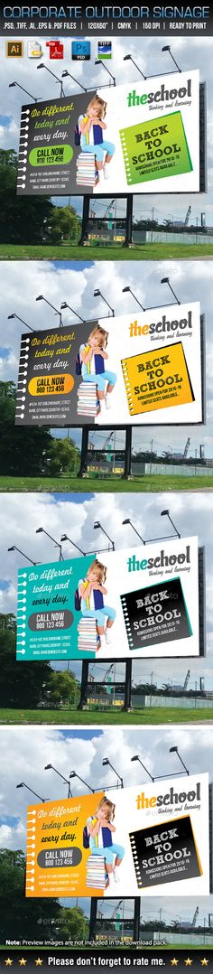 Corporate Business Billboard Template #design Download: http://graphicriver.net/item/corporate-business-billboard-33/12985168?ref=ksioks