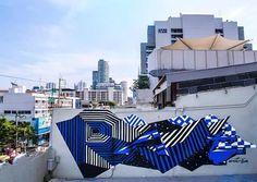 Felipe Pantone in Bangkok, Thailand, 2012