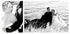 Beautiful Wedding on Sandy Cove Beach in Newfoundland (Black and White)