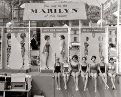 vintage everyday: Marilyn Monroe look-a-like competition in Hastings, UK, ca. 1958