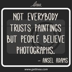 So true! As a future photojournalist, my photographs MUST be 100% true and 0% fake :)