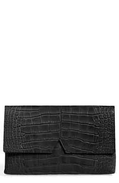 Vince Croc Embossed Leather Clutch available at #Nordstrom