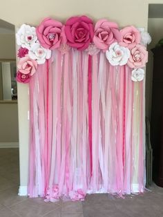 71 DIY Baby Shower Decoration For Baby Girl - Babyshower Pink Cake Ideen Deco Baby Shower, Baby Shower Backdrop, Baby Girl Shower Themes, Baby Shower Photos, Simple Baby Shower, Baby Shower Princess, Baby Shower Balloons, Baby Shower Parties, Baby Boy Shower