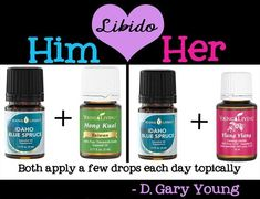 Young Living Essential Oils support healthy Libido. Gary and Mary Young shared this one!   ORDER HERE: www.nextgencounseling.com/shop