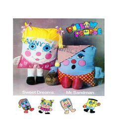 RARE PATTERN - Pillow People: Sweet Dreams & Mr. Sandman Soft Stuffed Plush Toy Designer Sewing Pattern by FindCraftyPatterns on Etsy