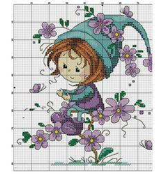 Cross Stitch Fairy, Cross Stitch Heart, Cute Cross Stitch, Cross Stitch Alphabet, Cross Stitch Gallery, Cross Stitch Designs, Cross Stitch Patterns, Cross Stitching, Cross Stitch Embroidery