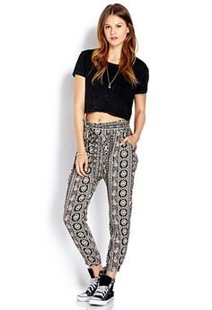 Floral Paisley Harem Pants | FOREVER21 - 2000088509 I Want these so bad!!! Can't wait to wear them! :)