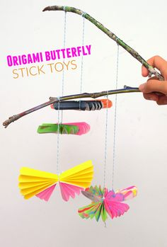 Origami Butterfly Stick Toys- Decorate, fold, and play!