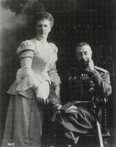 "Grand Duke Konstantin Konstantinovich Romanov of Russia  and his wife Elizaveta Mavrikievna Romanova of Russia.   ""AL"""