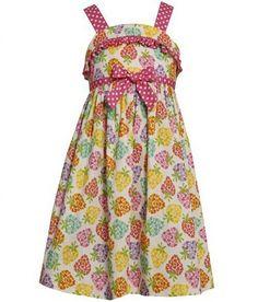 Bonnie Jean# M33316, Girls Strawberries Print Sundress http://www.bonniejeandresses.in/m33316.html