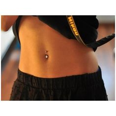 (5) Simple belly button piercing stud | piercings | Pinterest ❤ liked on Polyvore