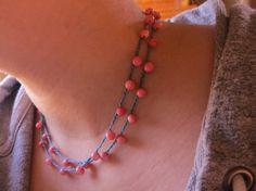 Peachy Keen Versatile crocheted necklace / bracelet by FleasKnees, $15.00