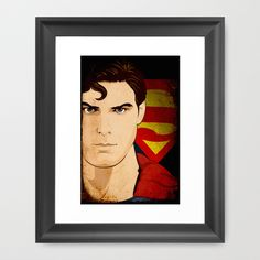 This is a friend of mine. He does amazing work. Superman (Christopher Reeve) Framed Art Print by Jeff Nichol Art - $50.00.