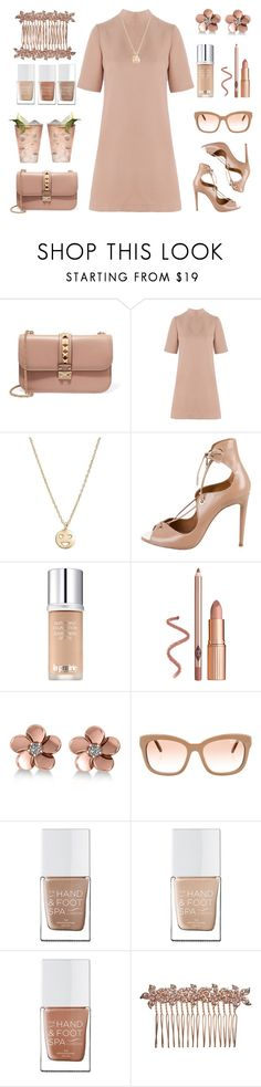 """Nude chic"" by rasa-j ❤ liked on Polyvore featuring Valentino, Related, Bing Bang, Aquazzura, La Prairie, Allurez, The Hand & Foot Spa, Margarita, John Lewis and nude"