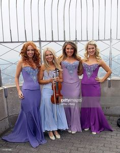 Singers Lisa Lambe, Mairead Nesbitt, Chloe Agnew and Susan McFadden of Celtic Woman visits The Empire State Building on March 2012 in New York City. Chloe Agnew, Celtic Women, Irish Singers, Women Of Rock, Fierce Women, Celtic Music, Irish Pride, Irish Eyes, Music Therapy
