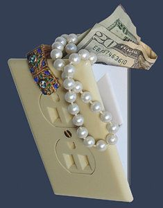 {What a fabulous idea.} Security Wall Safes to Conceal Valuables - Hidden Wall Socket Safe