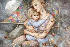 Goodnight, My Angel (Mother) by Anne Yvonne Gilbert ~ young girl & her mother Moon Pictures, Sailing Pictures, Arte Pop, Book Projects, Mother And Child, Art Google, Art Girl, Liverpool, Fairy Tales