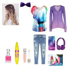 """""""School outfit 3"""" by luciekat on Polyvore featuring Tieks, Colmar, Maybelline, Lancôme and Topshop"""